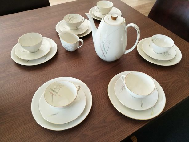 Serwis kawowy deserowy Eschenbach Bavaria porcelana lata 60 dla 6 osób