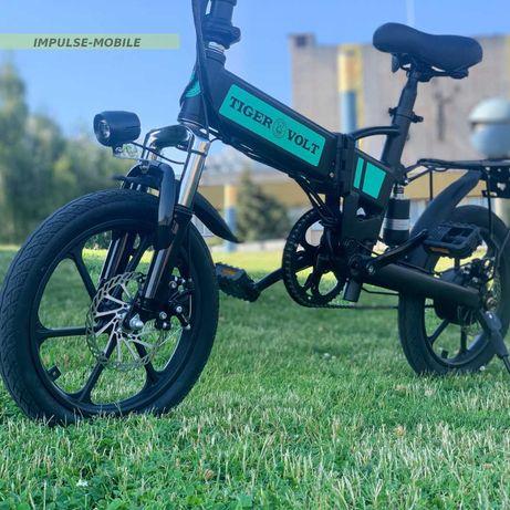 """СКЛАДНОЙ Электро-Велосипед 16"""" Колеса [30км на 1 заряде] ДОСТАВКА"""