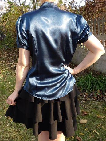Orsay spódnica z falban czarna 40 L rozkloszowana