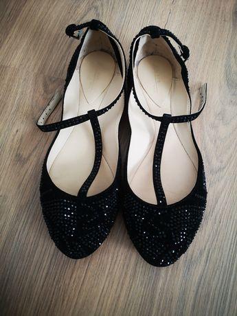 Vendo sabrinas sandálias sapatos zara brilhantes festa pretos novos