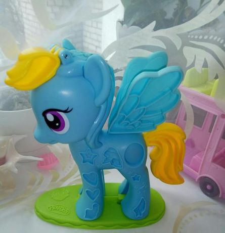 Пони для игры, игровой набор с пластилина. Play-Doh My Little Pony