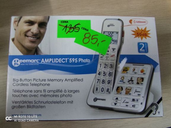 Telefon bezprzewodowy Geemarc AMPLIDECT 595 Photo
