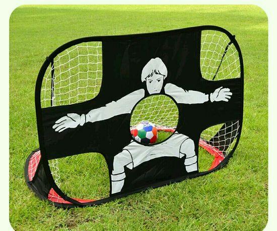 Футбольные ворота двусторонние СКЛАДНЫЕ. Игра в КВАРТИРЕ, во дворе