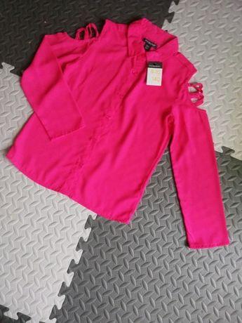 Koszula z długim rękawem kołnierzykiem dziewczynka 9-10 lat 140