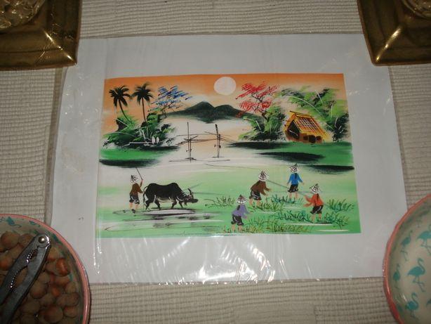 Obraz Vietnam na płótnie ryżowym pejzaż Oryginał