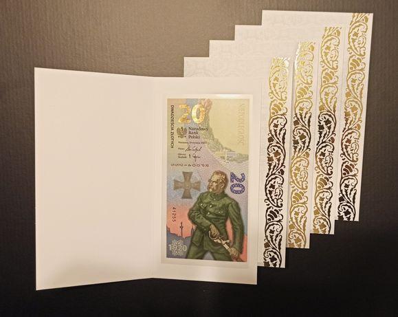 Bitwa Warszawska 1920 zestaw 5 banknotów UNC