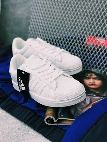 Кроссовки чисто белые Adidas Superstar pure White Хит Сезона!!