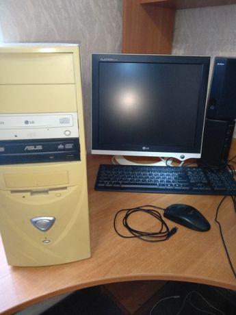 Компьютер, монитор LG, комплектующие
