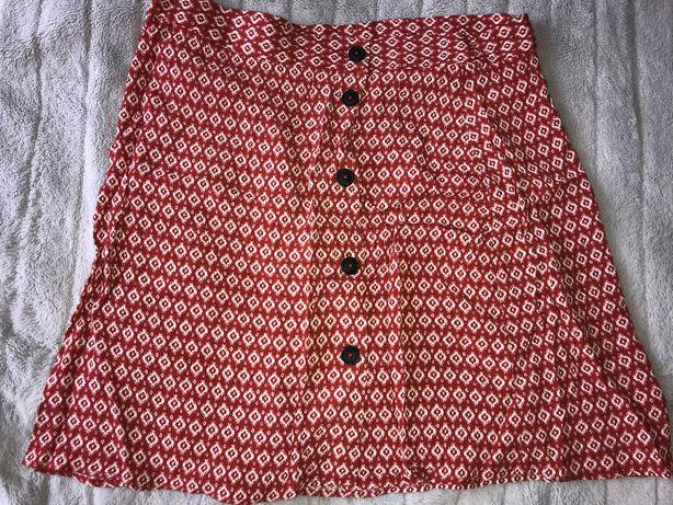 H&M trapezowa letnia spódnica RETRO 42