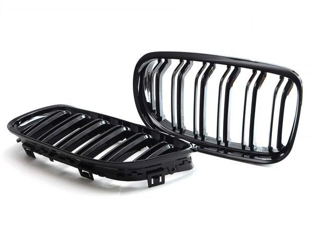 NERKI grill atrapa kratki BMW 5 E60 E61 M PAKIET M5 czarny połysk