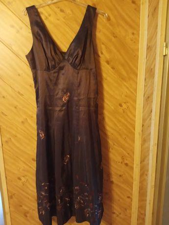 Sukienka z szalem, rozmiar 38