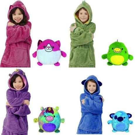 Huggle Pets худи толстовка плед игрушка единорог кофта реглан свитер