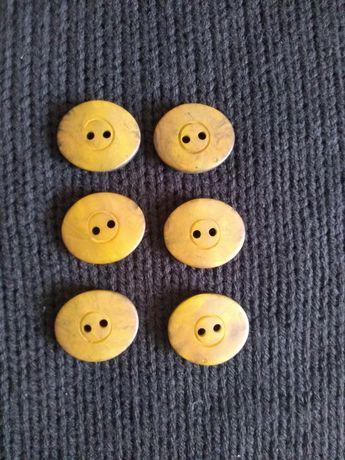 Guziki żółto- czarne