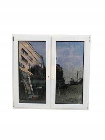 Okno dwuskrzydłowe pcv białe używane 146x143 POZNAŃ/DOWÓZ
