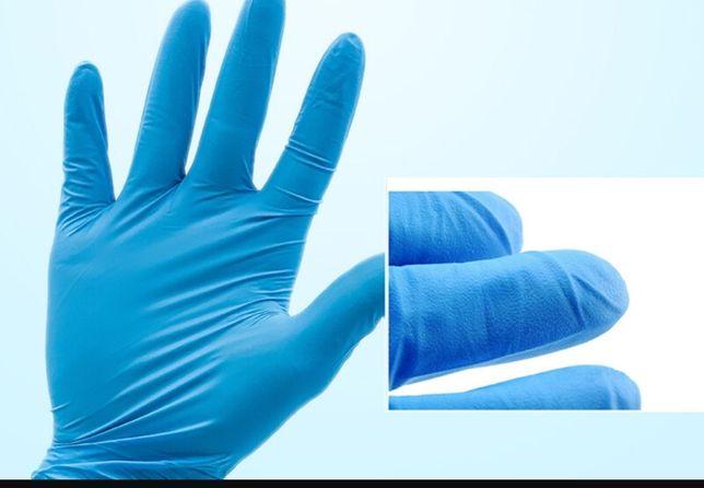 Luvas de nitrilo azul premium, com fatura