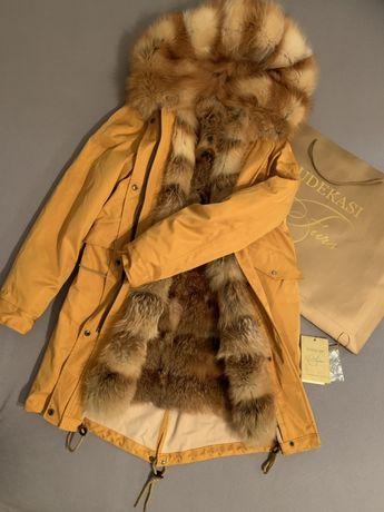 Парка меховая с мехом куртка