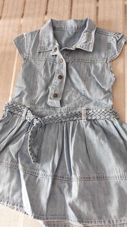 Sukienka suknia dzinsowa 18-24 m