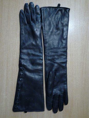 Длинные кожаные перчатки PRADA