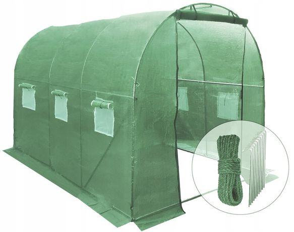 Namiot ogrodniczy tunel foliowy folia szklarnia ogrodowa 6m² (3x2x2)