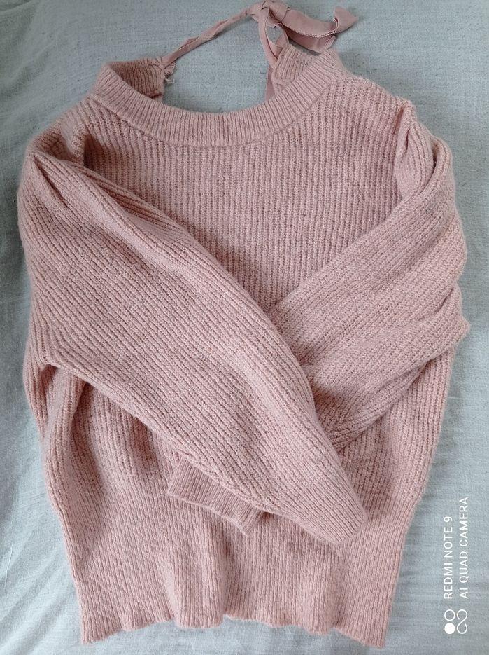Sweterek pudrowy róż Warszawa - image 1