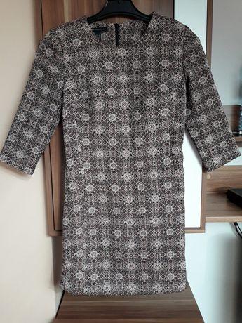 Mango sukienka XS wzorzysta