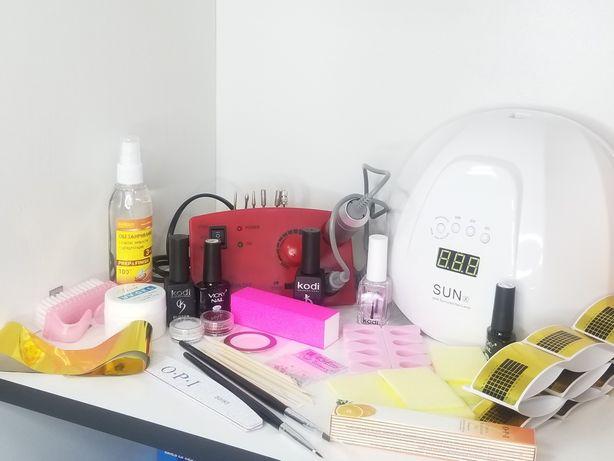 Набор стартовый для ногтей с лампой Sun 54 и фрезером Zs-602 65w/3500о