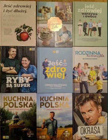 Zestaw wszystkich książek kucharskich z Lidla 11 sztuk cena za komplet