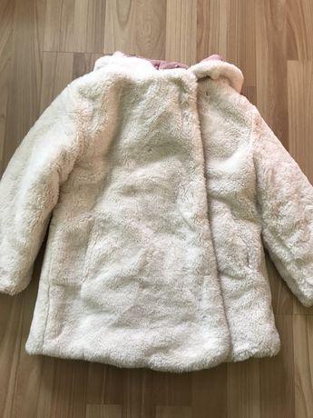 Детская двухсторонняя куртка шуба шубка пуховик зима 3-5 лет