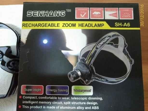 Lanterna led cree de 5w 1200lm para cabeça