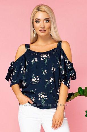 Блуза штапель летняя размер 50