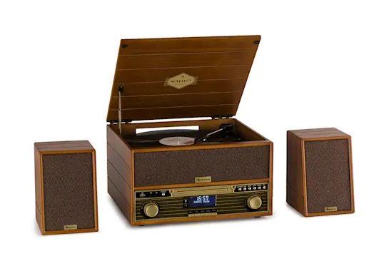 Gramofon Wieża Retro Auna Belle Epoque 1910 - CD/USB/SD/BT/Kasety/itp