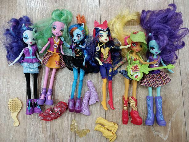 My little pony equestria girls 6 sztuk, 3 z naszyjnikiem do aplikacji