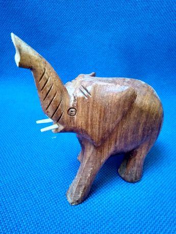 drewniane figurki zwierząt - słoń, osioł