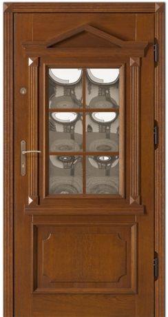 Drzwi zewnętrzne RETRO antywłamaniowe drewniane