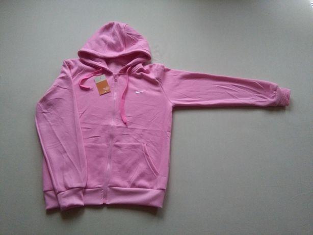 Bluza damska różowa kaptur