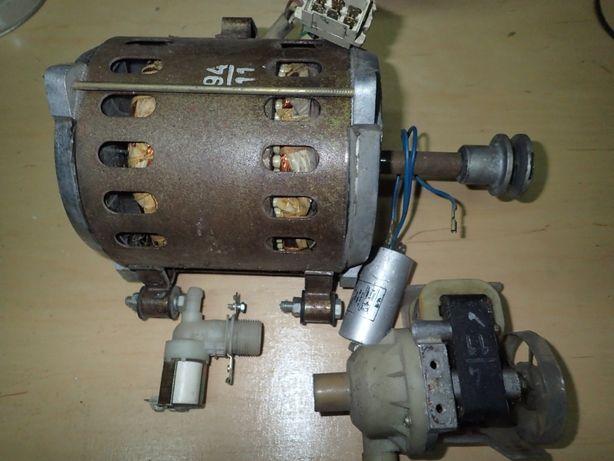 silnik , elektrozawór , pompa do pralki