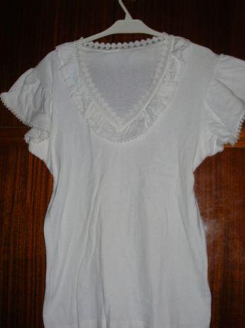 блузка, блуза, р48, 100% котон, з кружевом, нарядна, вироб. Югославія