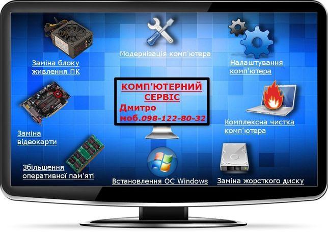 Комп'ютерів Установка Чистка Віндовс Windows Ремонт Ноутбуків Допомога