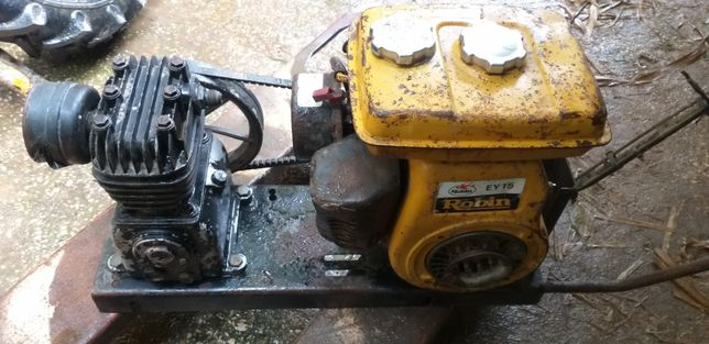 Compressor com motor a Robin a gasolina