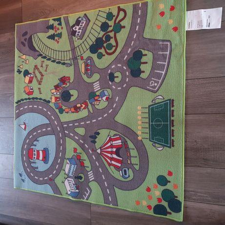 Zielony dywan dla dziecka IKEA