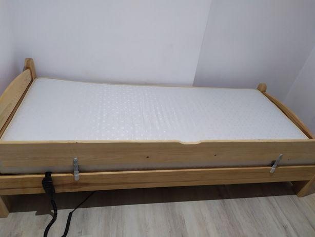 Łóżko rehabilitacyjne regulowane z materacem i barierką