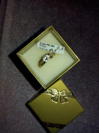 Piękny złoty pierścionek 585 r 14,5 Promocja
