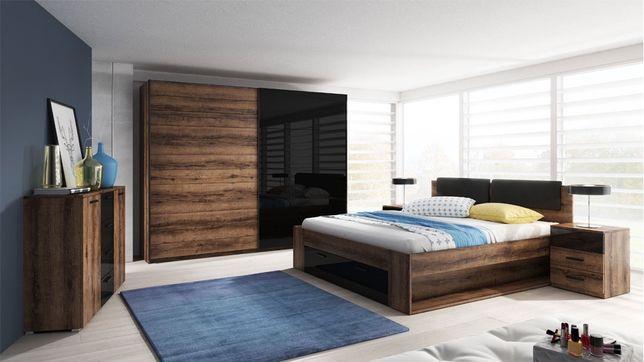 Łóżko+szafa+komoda+szafka nocna
