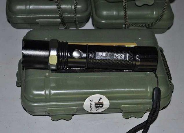 фонарь акумуляторный НОВЫЙ + зарядка + коробка -УКРПОЧТА НОВАЯ ПОЧТА