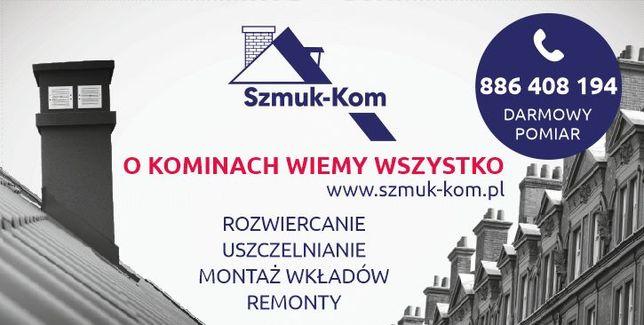 Rozwiercanie (frezowanie) kominów SZMUK-KOM (Śląsk i inne regiony)