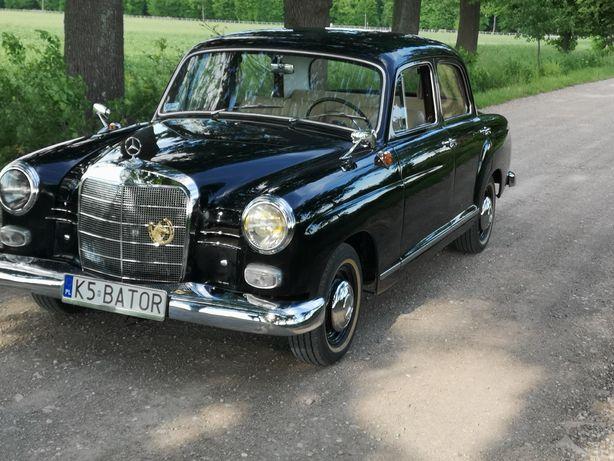 Auto Samochód zabytkowy do ślubu. Mercedes w120