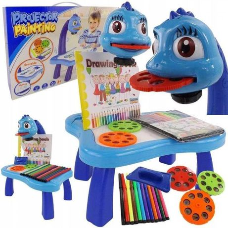 Детский стол проектор для рисования с подсветкой Розовый и голубой
