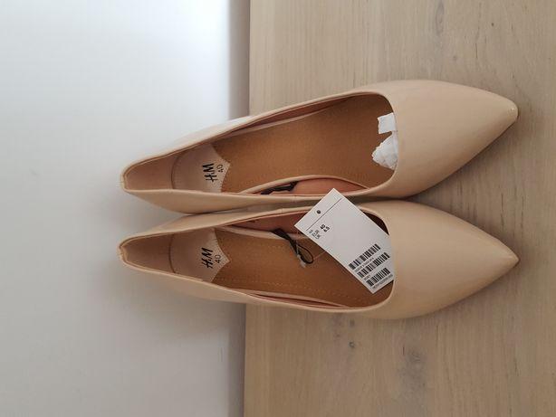 Buty na obcasie beżowe rozmiar 40