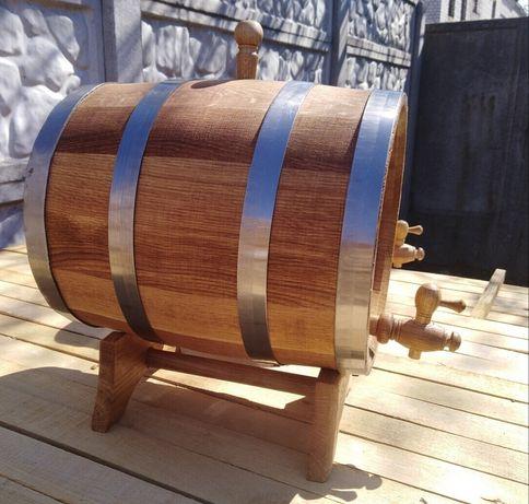 Бочка дубова, дiжка (3 л - 230 л), середня ступiнь обжарки для напою.