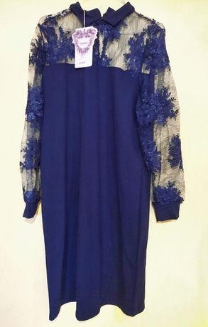Платье гипюровый верх